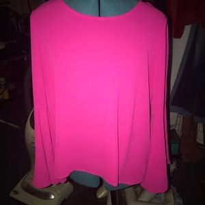 Beautiful hot/bright pink blouse